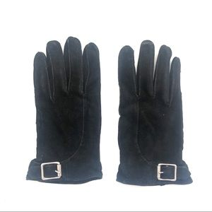 RL Kid Suede Leather Buckle Gloves